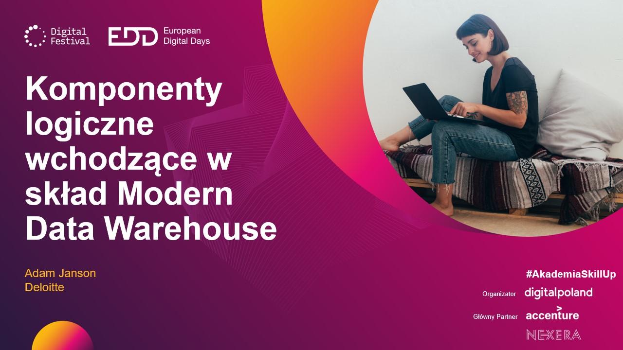Komponenty logiczne wchodzące w skład Modern Data Warehouse